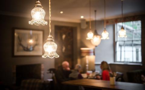 The bar at The Grosvenor Arms, Shaftesbury