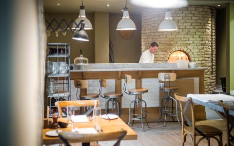 The pizza oven at The Grosvenor Arms, Shaftesbury